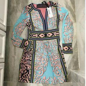 Hale Bob Print Long Sleeve Dress